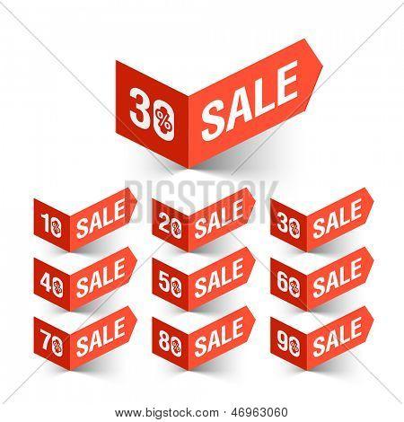 Sale percent set. Vector.
