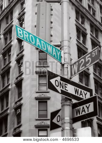 Broadway verde segno