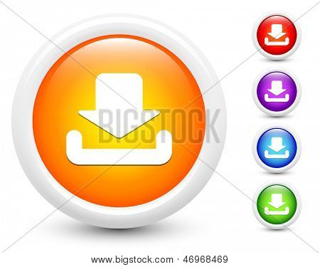 Download Icons on Round Button Collection Original Illustration