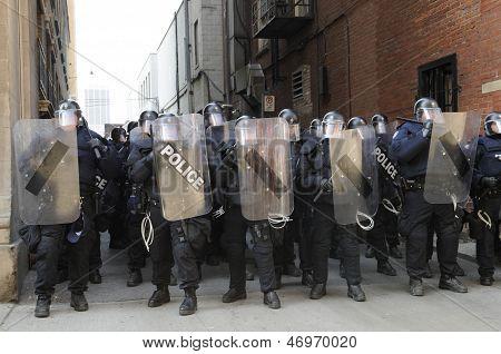 Toronto riot police.