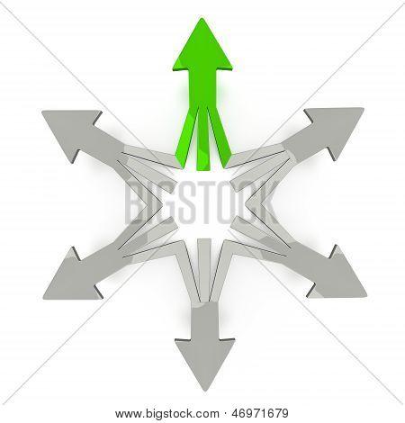 3D Arrows - One Good Choice