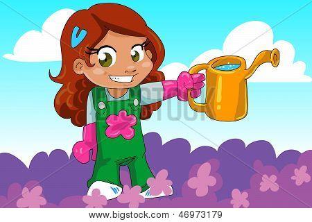 Cute gardener