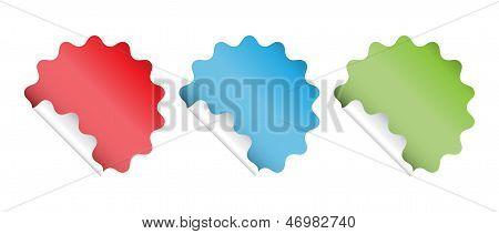 Wavy Circle Stickers