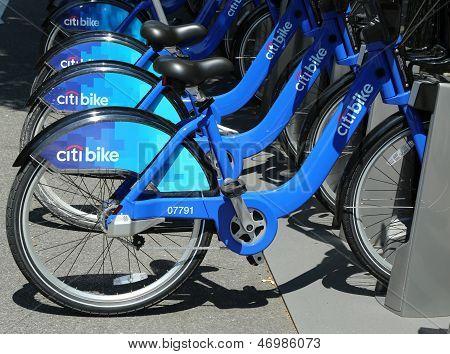 Citi bike station in Williamsburg section of Brooklyn