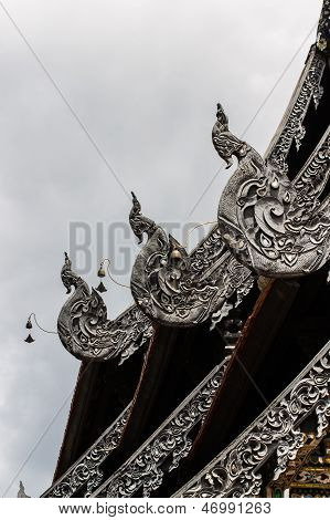 Naga Lanna Gable Apex In Wat Chedi Luang
