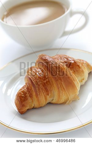 croissant and cafe au lait