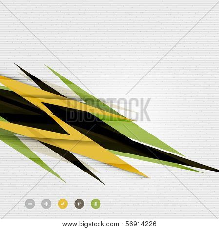 Colorful abstract technology lightning shapes for banner | techno background | web design template | infographic template