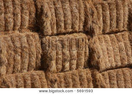 Hay bale background texture