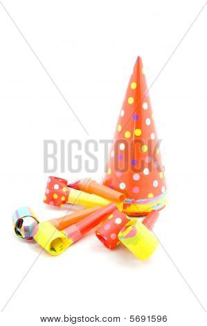 Colorful Partyhats And Party Whistles
