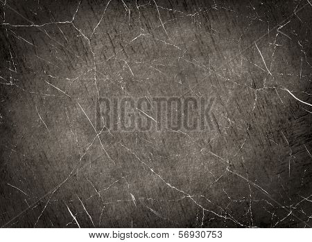 Scratched monochrome texture as abstract background.Digitally generated image. poster