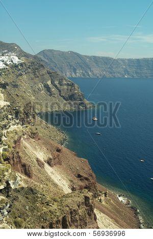 Santorini Island Rock