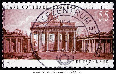 Postage Stamp Germany 2007 Brandenburg Gate