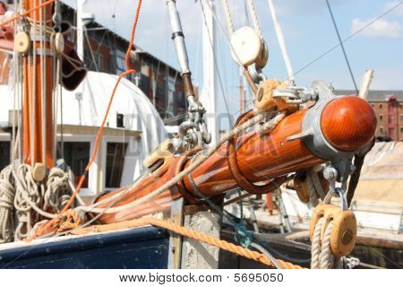 Fore body of yacht