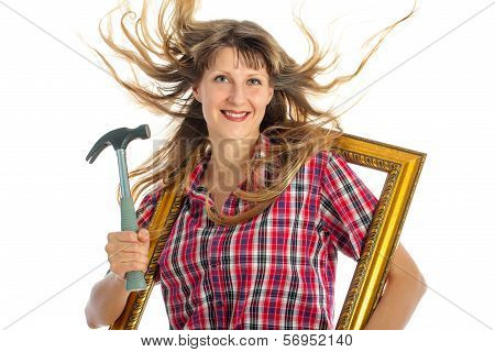 Woman in the process of renovating
