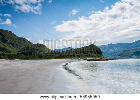 Empty Beach In Northern Norway