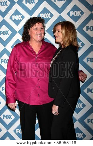 LOS ANGELES - JAN 13:  Dot Marie Jones, Bridgett Casteen at the FOX TCA Winter 2014 Party at Langham Huntington Hotel on January 13, 2014 in Pasadena, CA
