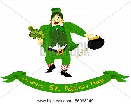 leprechaun happy st. patricks day