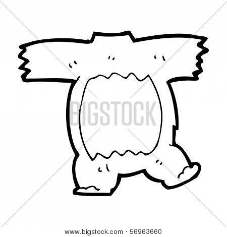 cartoon teddy bear body (mix and match cartoons) poster