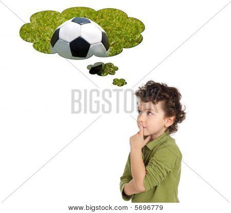 Adorable Boy Thinking