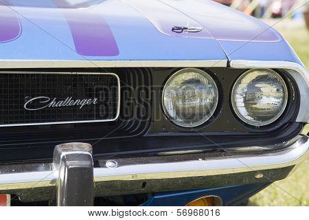 1970 Purple Dodge Challenger Headlight