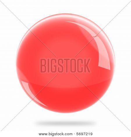 Blank Red Sphere Float