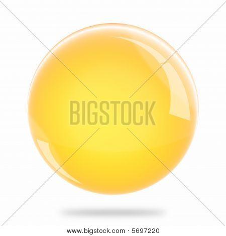 Blank Light Orange Sphere Float