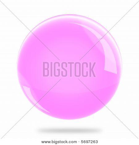 Blank Pink Sphere Float