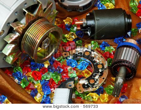 Colorful Auto Spares Still-life