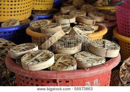 Fish Thailand Bamboo Basket Empty