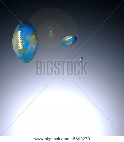 Football Oval Globes