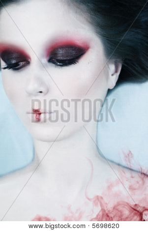 poster of Beauty art creative portrait of woman with good makeup