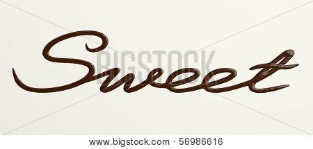 Chocolate Sweet text II