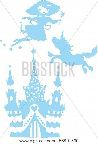 Fantasy silhouettes set
