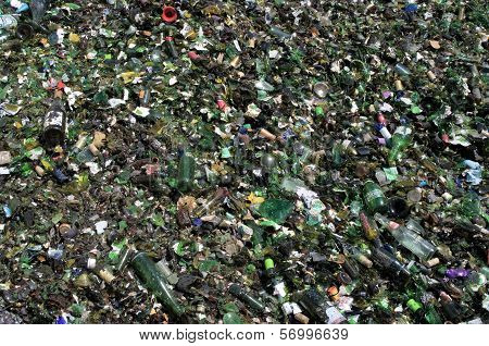 Crushed Green Glass