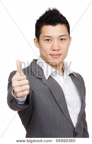 Manager with thumb up