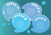 Water droplets layout with area for text poster