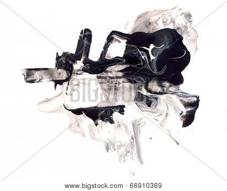 Abstract watercolor and mixed media design element isolated on white. Great texture or background for your projects