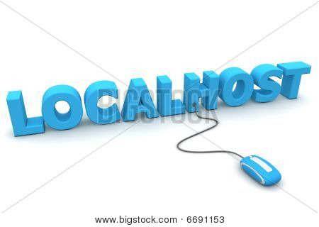 Browse The Localhost - Blue Mouse