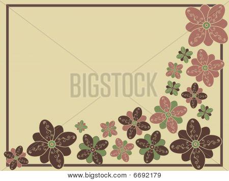 Stylized Floral Vectorbackground