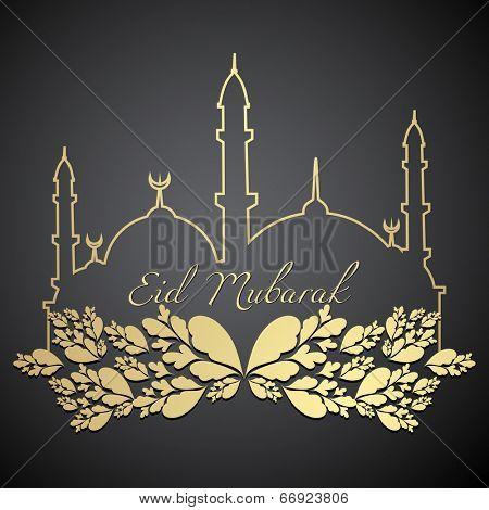stylish eid Mubarak design illustration poster