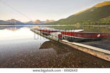 Glacier National Park Boats On Dock