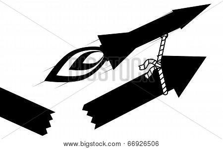 Rocket pull arrow