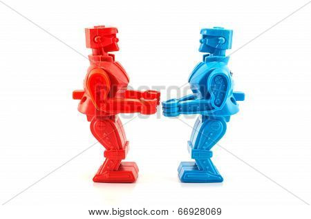 Robot Toy Ready To Fight