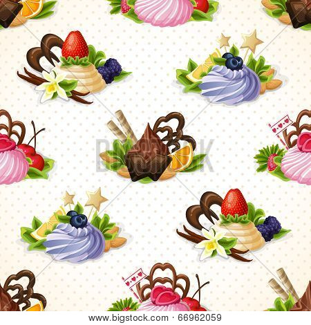 Sweets seamless pattern