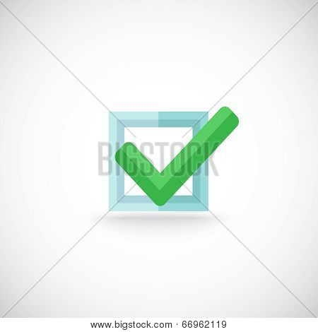Chek mark web button icon
