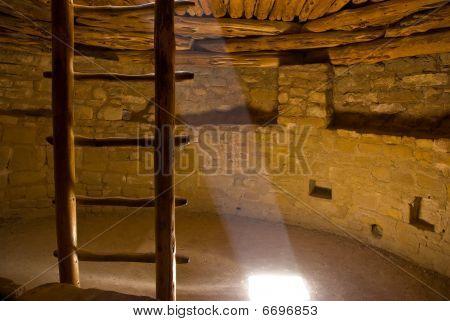 Inside a kiva