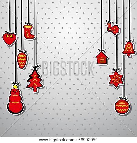 creative christmas background vector