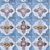Seamless tile pattern of ancient ceramic tiles. poster