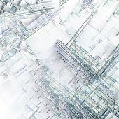 Abstract Art Reminiscent of City Blocks poster