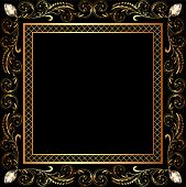 illustration background frame ornaments and precious stones poster